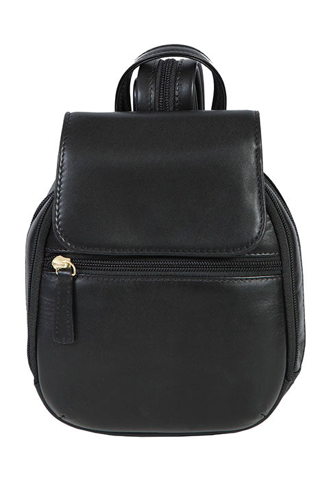 Scully Leather Mini Backpack Black