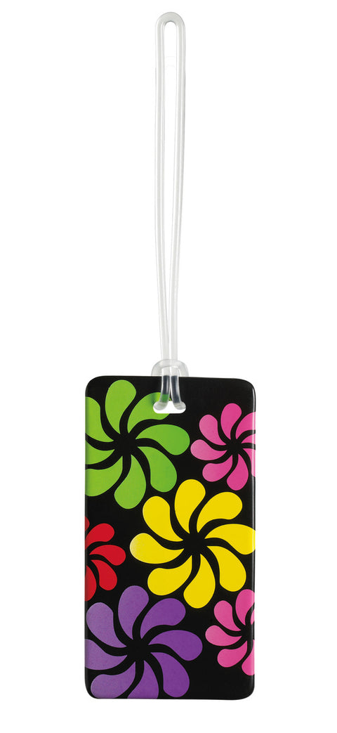 Lewis N Clark Luggage Tag Black Floral