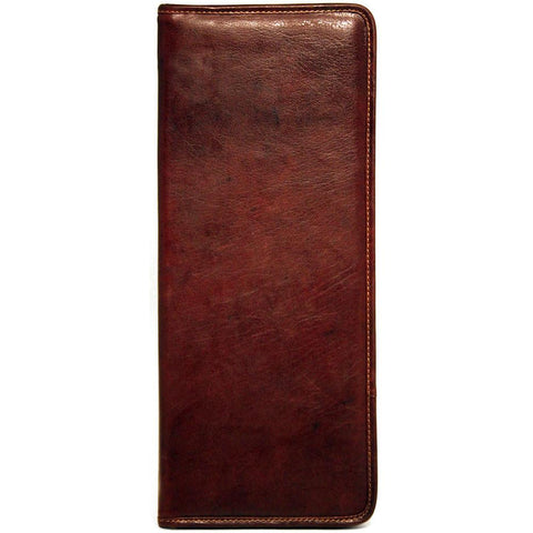 Jack Georges Voyager Collection Tie Case Brown