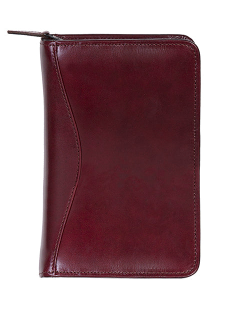 Scully Leather zip weekly organizer