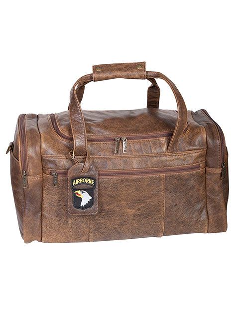 Scully Aerosquadron Collection Leather Top Zip Duffel Bag Walnut
