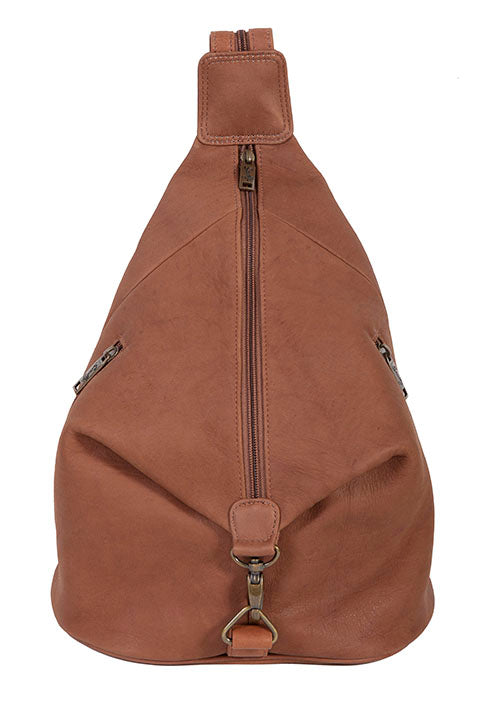 Scully Sierra Collection Leather Travel Sling Brown