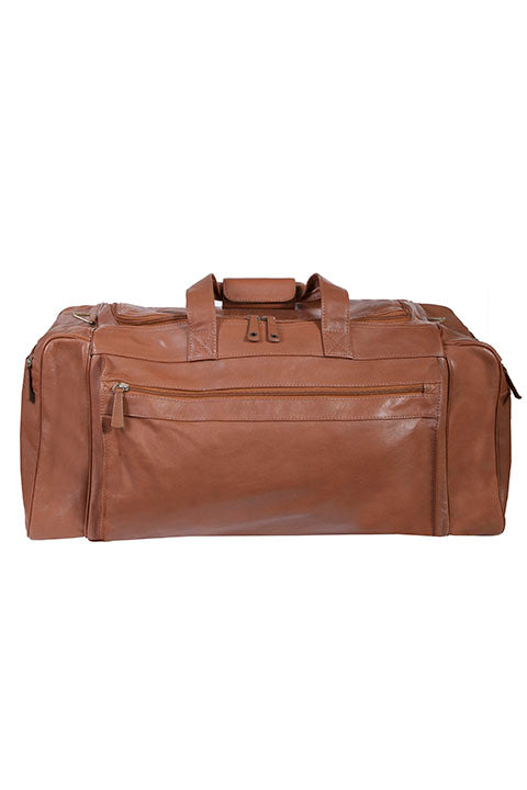 Scully Sierra Collection Large Leather Duffel Bag Brown