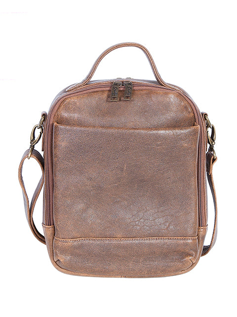 Scully Aerosquadron Collection Leather Travel Tote Walnut