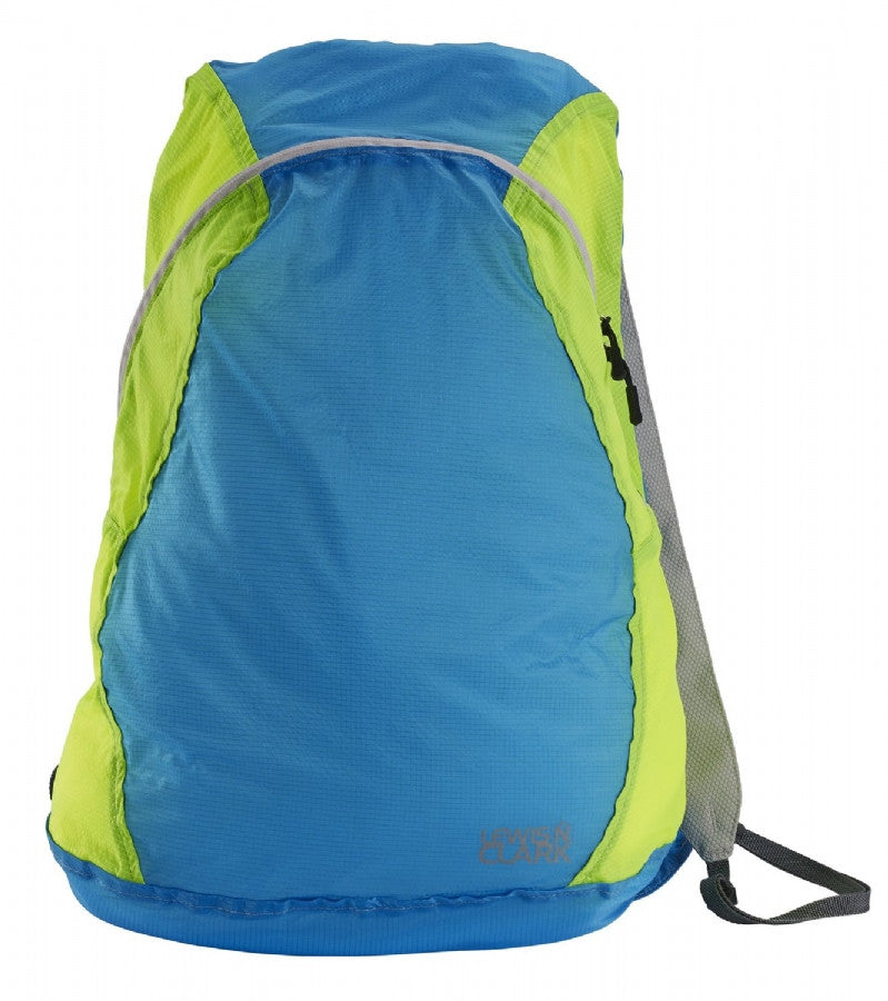 Lewis N Clark Electrolight Backpack Blue Neon Lemon