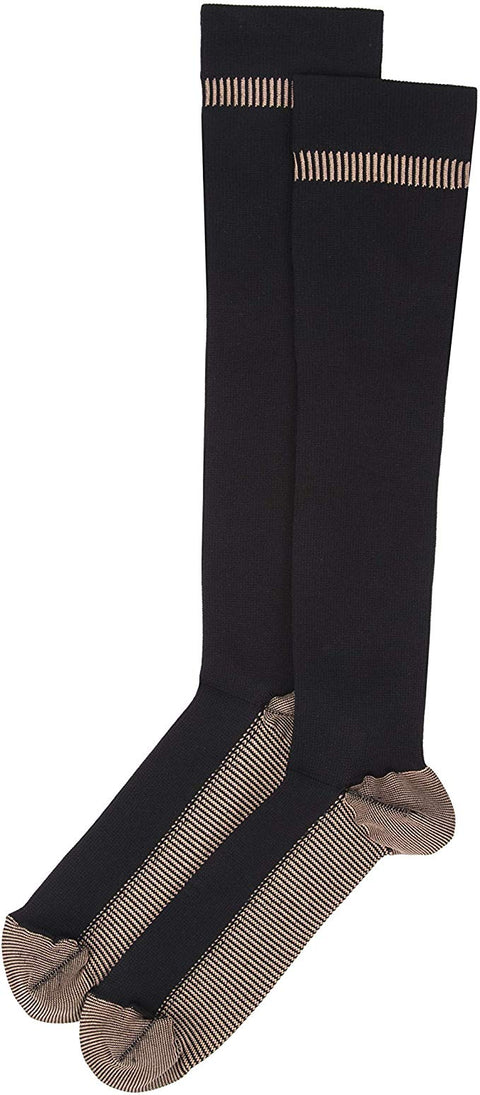Travelon Lg. Copper Infused Compress Socks