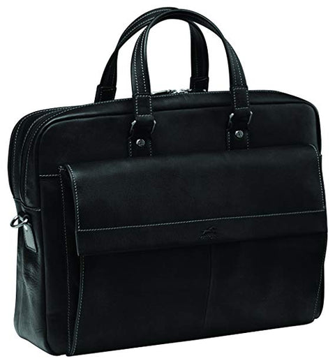 Mancini Double Compartment Briefcase for Laptop and Tablet