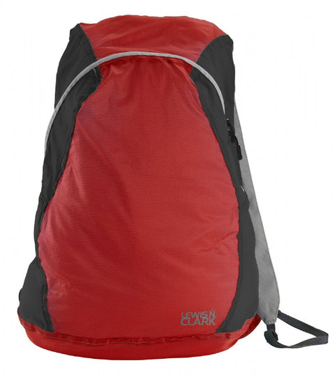 Lewis N Clark Electrolight Backpack Red Charcoal