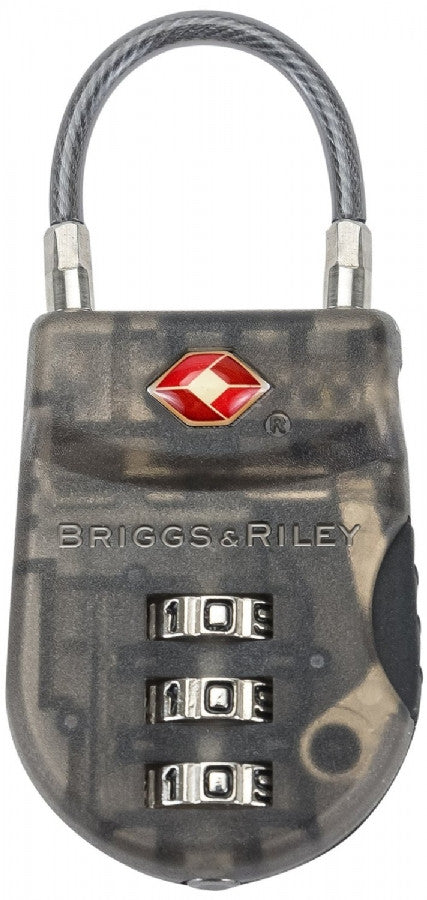 Briggs & Riley @ Travel Basics Luggage Lightweight Tsa Cable Lock Smoke