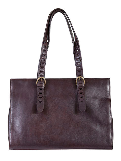 Scully Leather Soft Lamb Handbag Chocolate