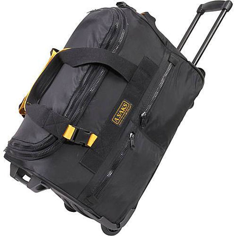 A.Saks Expandable 20 Inch Wheeled Duffel
