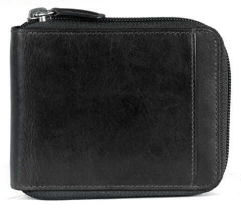 Mancini Casablanca Men's Zippered Wallet with Removable Passcase