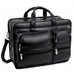 "McKlein USA Clinton 17"" Leather Patented Detachable Wheeled Laptop Briefcase Black"