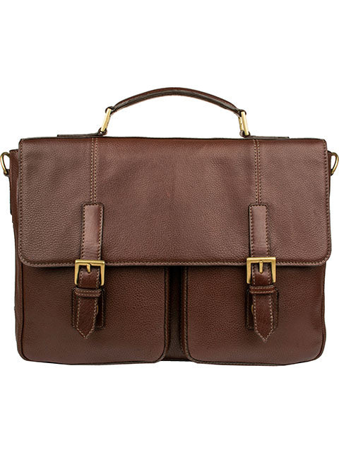 Scully Leather Ranchero Workbag Brief Chocolate