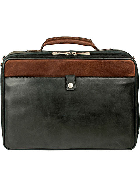 Scully Leather Travel Bag Black
