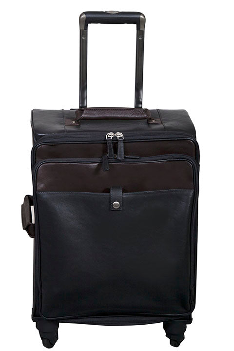 Scully Leather Wheeled Carry On Black