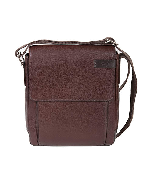 Scully Sierra Collection Leather Shoulder Tote Chocolate