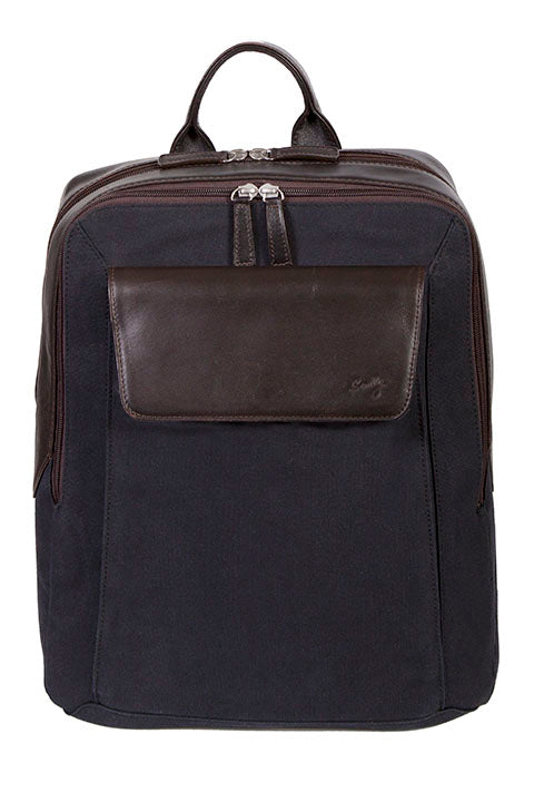 Scully Leather Berkeley Canvas Backpack Chocolate