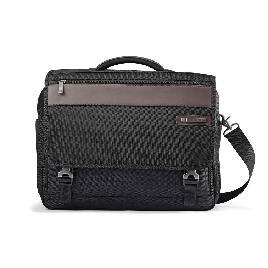 Samsonite Kombi Flapover Briefcase Black
