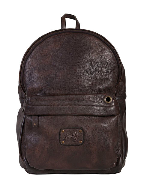 Scully Leather Goat Washed Backpack Chocolate