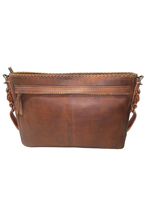 Scully Sierra Collection Leather Messenger Bag Brown