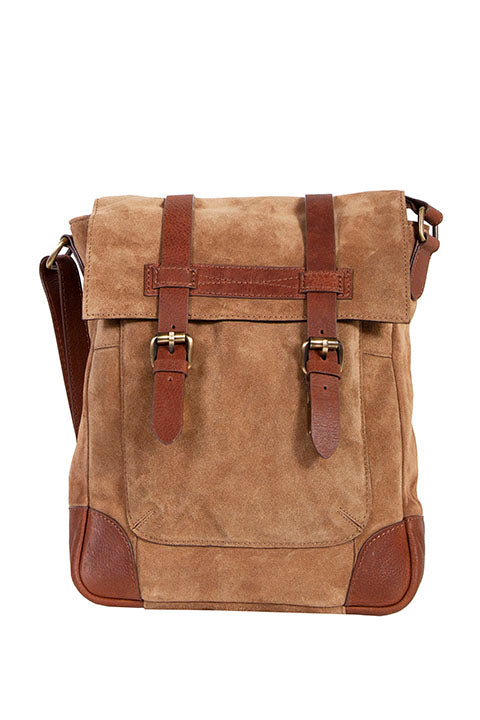 Scully Suede and leather messenger bag