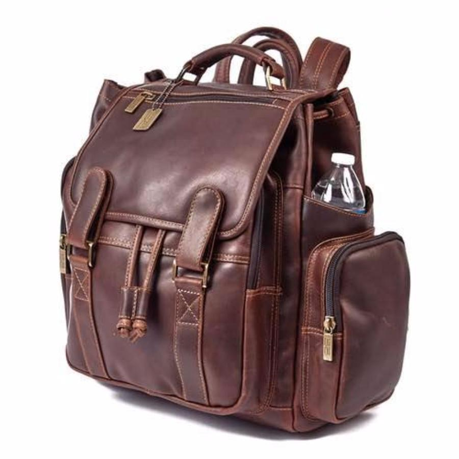 Claire Chase Legendary Jumbo Backpack Dark Brown