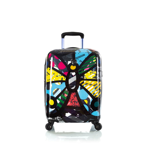"Heys Britto Butterfly Transparent 21"" Carry On Spinner Luggage"