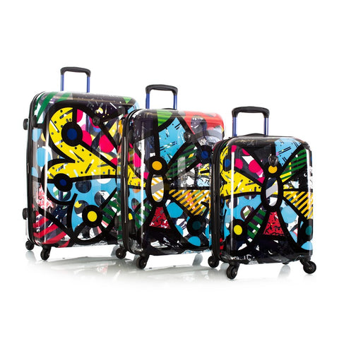 Heys Britto Butterfly Transparent 3pc Spinner Luggage Set