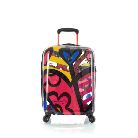 "Heys Britto A New Day Transparent 21"" Carry On Spinner Luggage"