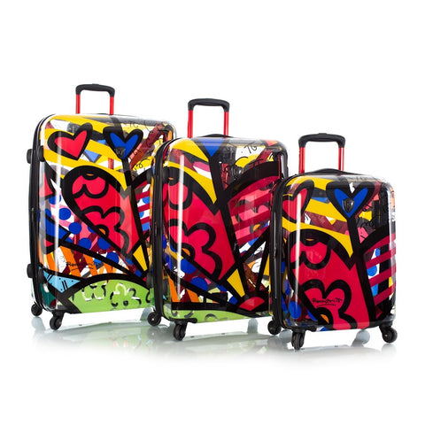 Heys Britto A New Day 3pc Spinner Luggage Set Transparent