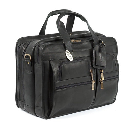 Claire Chase Jumbo Executive Laptop Briefcase Assorted Colors