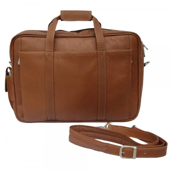 Piel Leather Computer Briefcase Assorted Colors