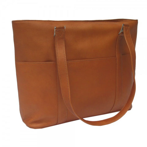 Piel Leather Computer Tote Bag Assorted Colors
