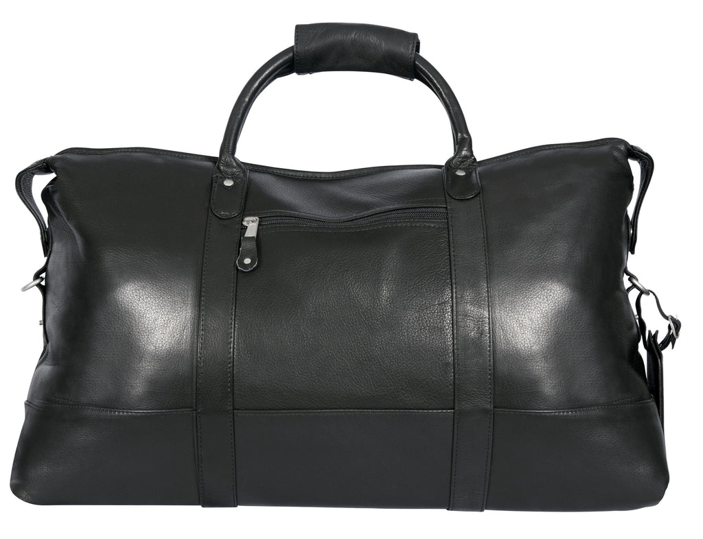 Canyon Outback Falls Canyon 22 Inch Leather Cabin Duffel Bag Black