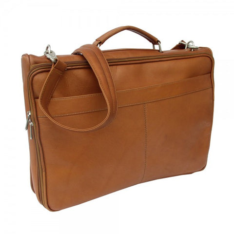 Piel Leather Double Executive Computer Bag Assorted Colors
