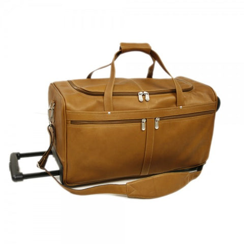 "Piel Leather 22"" Duffel On Wheels Assorted Colors"