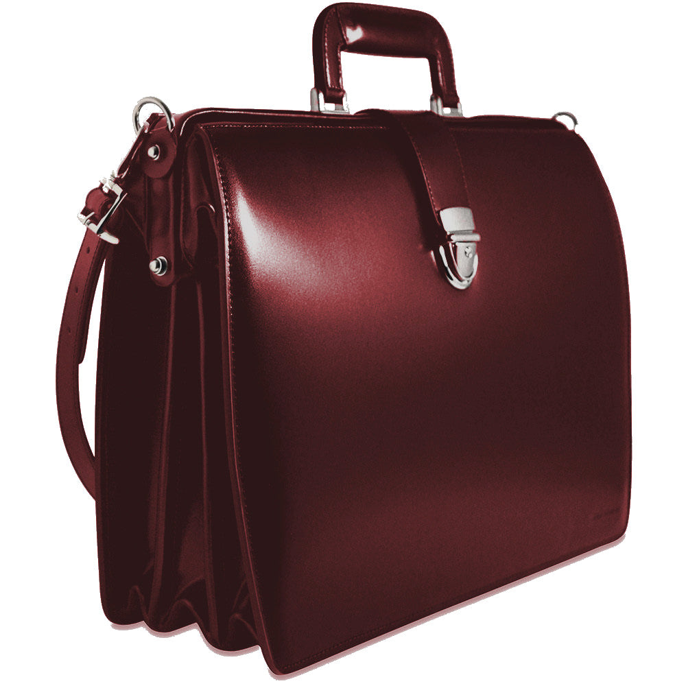 Jack Georges Elements Collection Classic Briefbag with Shoulder Strap Burgundy