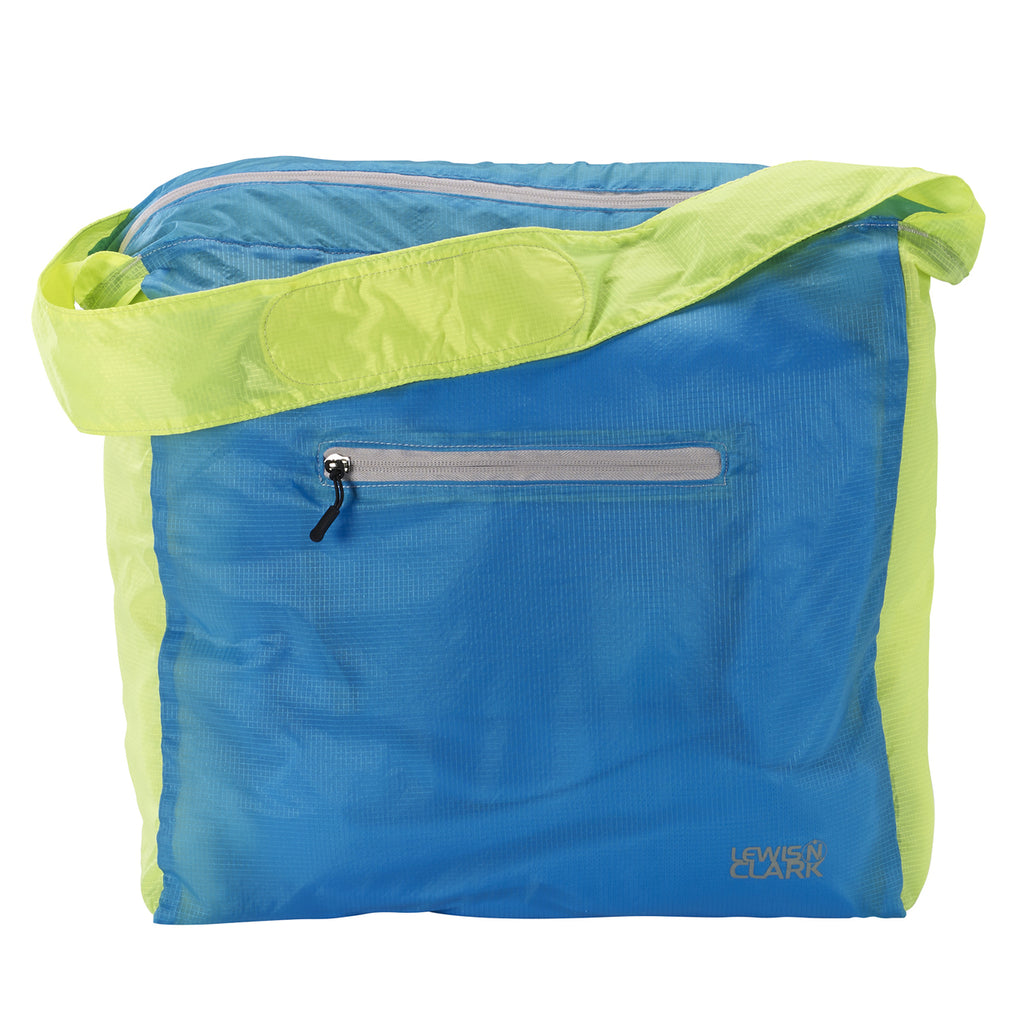 Lewis N Clark ElectroLight Tote Bag Neon Lemon Blue