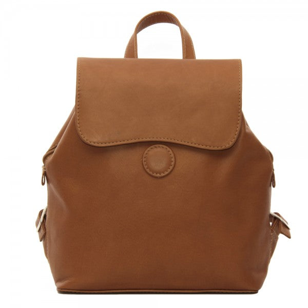 Piel Leather Flap Over Button Backpack Assorted Colors