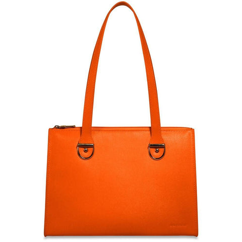 Jack Georges Chelsea Collection Large Shoulder Bag Orange