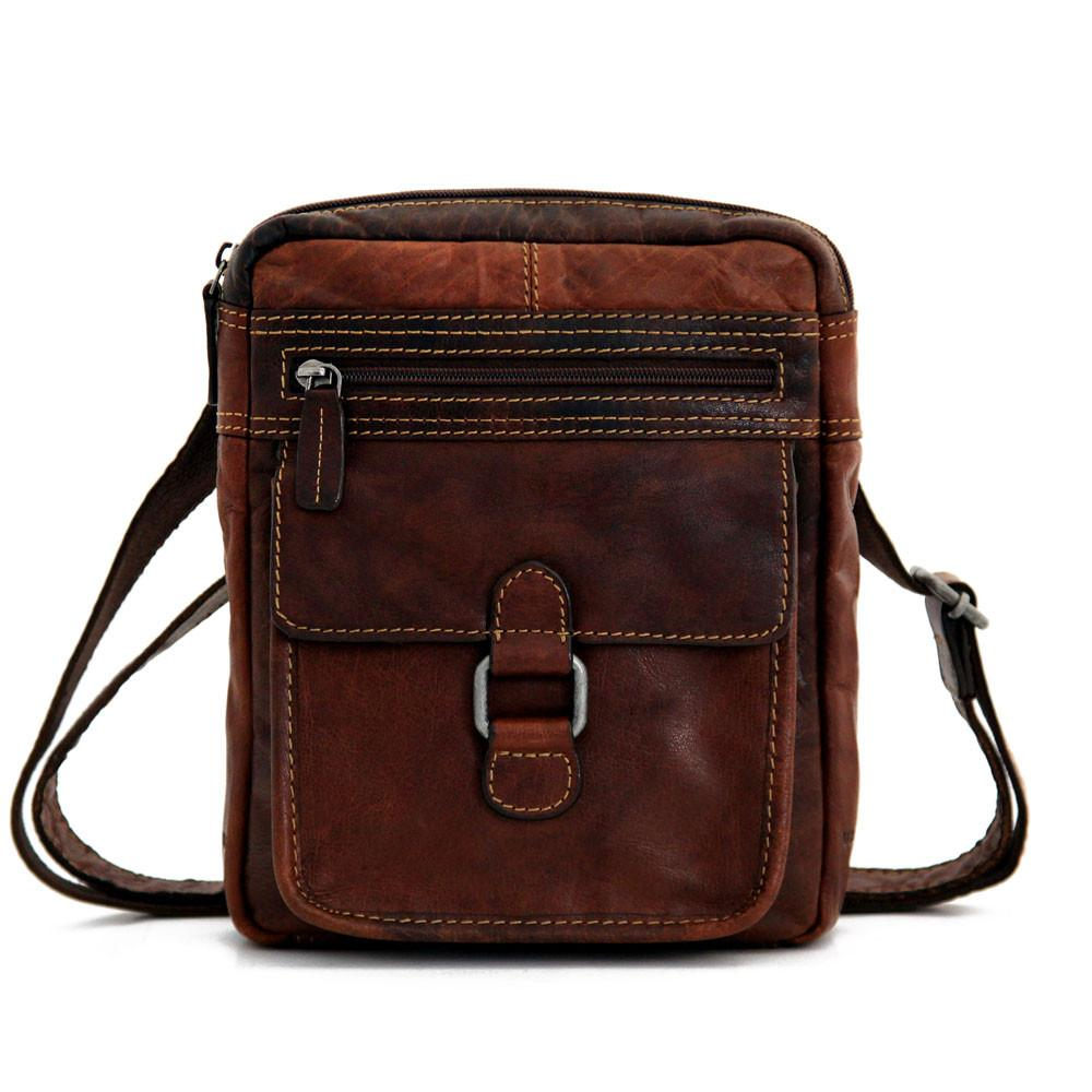 Jack Georges Voyager Collection Cross Body Brown