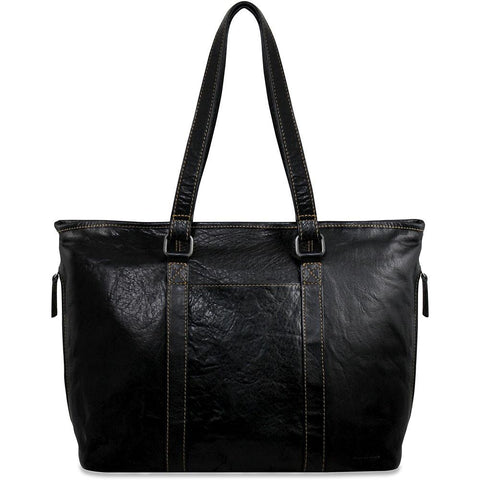 Jack Georges Voyager Zip Top Tote Black or Brown