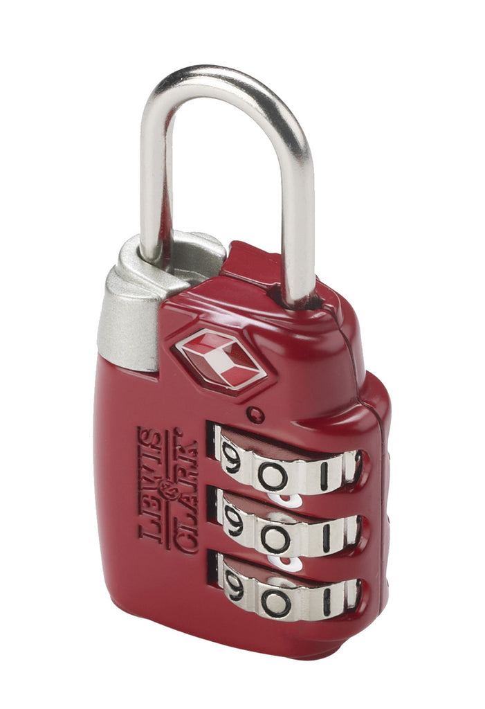 Lewis N Clark TSA Large Dial Combination Lock Red