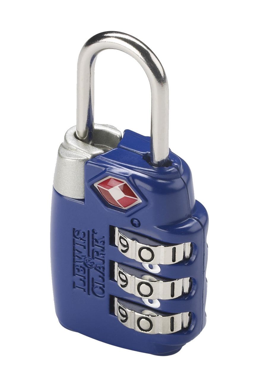 Lewis N Clark TSA Large Dial Combination Lock Blue