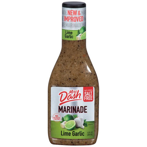 Mrs Dash Salt Free Garlic Lime Marinade 12 Oz Bottle