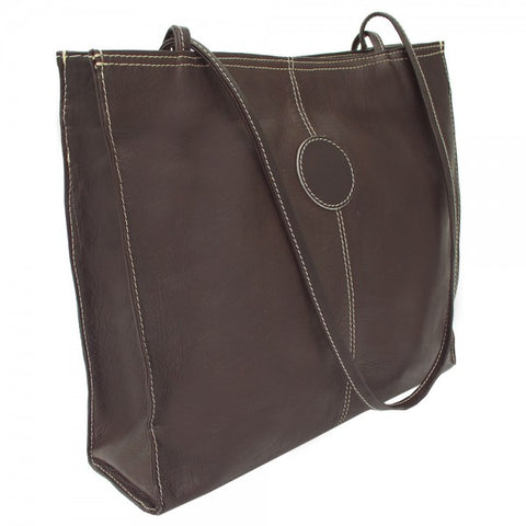 Piel Leather Medium Market Bag Assorted Colors
