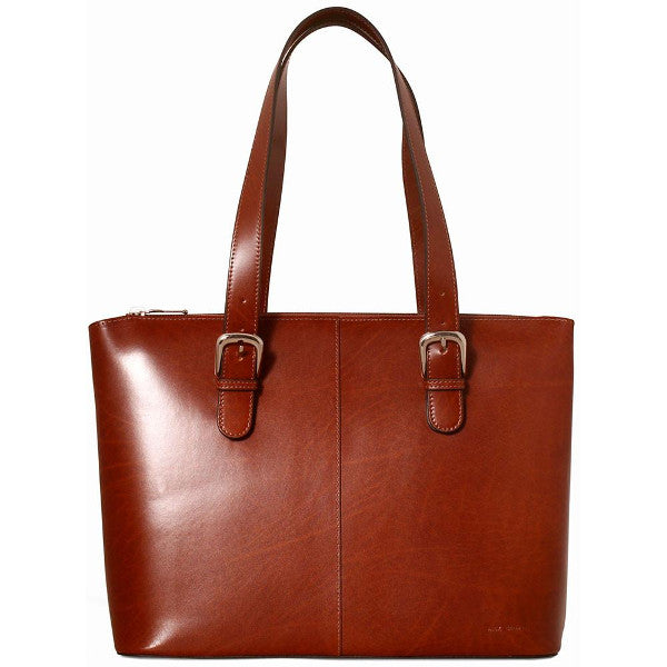 Jack Georges Milano Collection Madison Avenue Business Tote Cognac