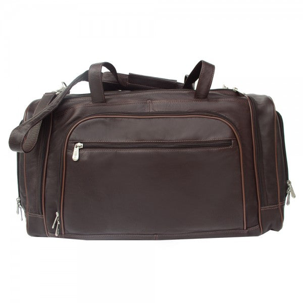Piel Leather Multi Compartment Duffel Bag Assorted Colors