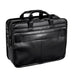 "McKlein USA Elston 15.6"" Leather Double Compartment Laptop Briefcase Black"